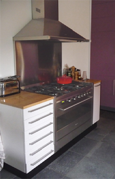 Interieurbouw: keuken aubergine