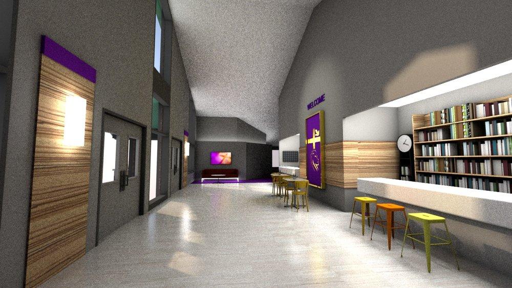 Gillem Church, proposed lobby design, Atlanta