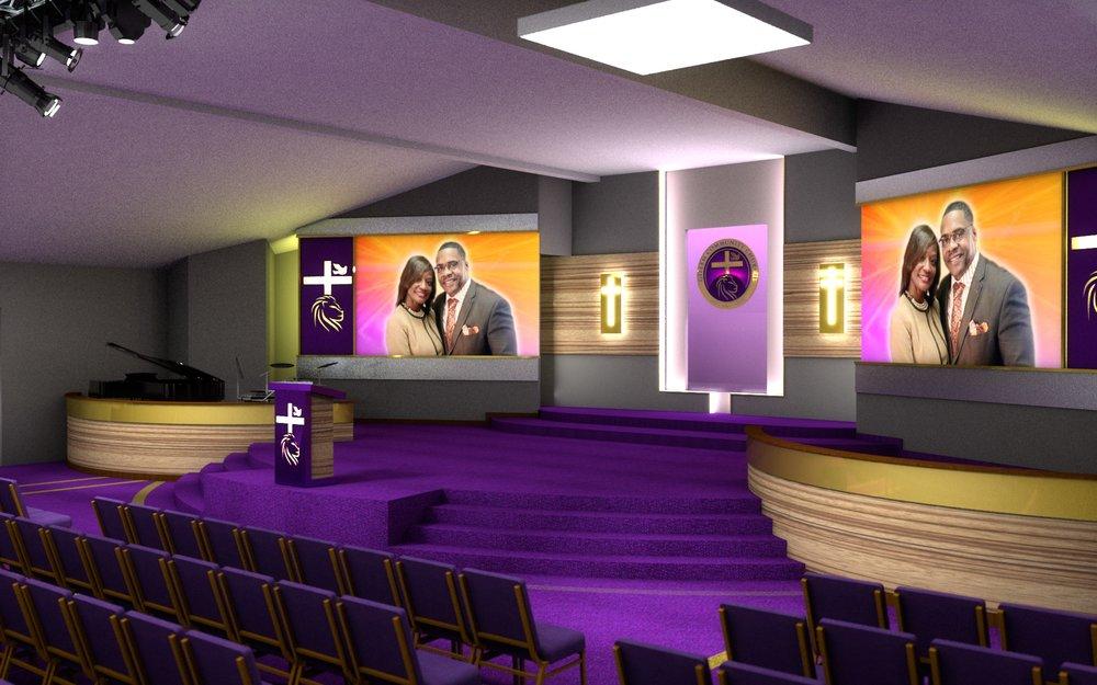 Gillem Church, proposed sanctuary design, Atlanta