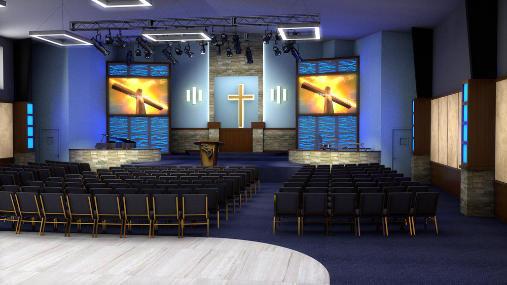 Rock Bridge Baptist, proposed sanctuary design, Norcross, GA