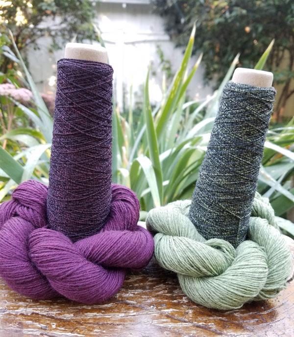 Habu-and-Rosy-Green-Wool-combinations-for-Hoku-shawl-1-RTP