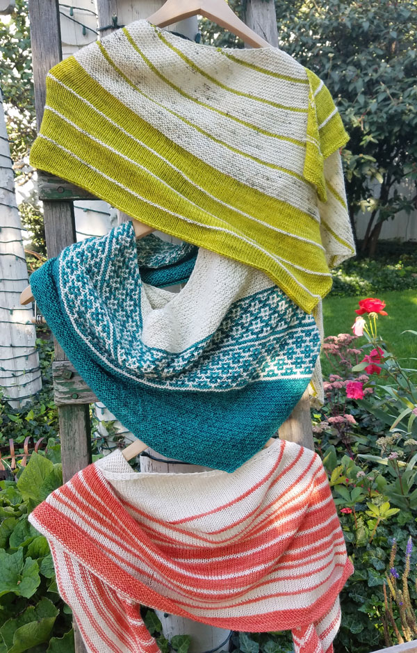 My Sister Knits, Fort Collins, fingering weight shawls,