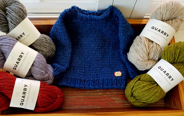 My Sister Knits, local yarn shop, Brookyn Tweed, Quarry, bulky weight yarn, Bracken, Colorado