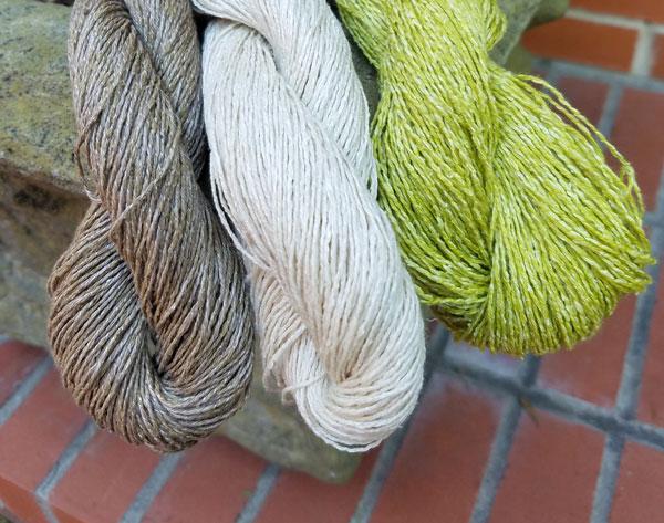Silk linen chainette yarn fingering weight