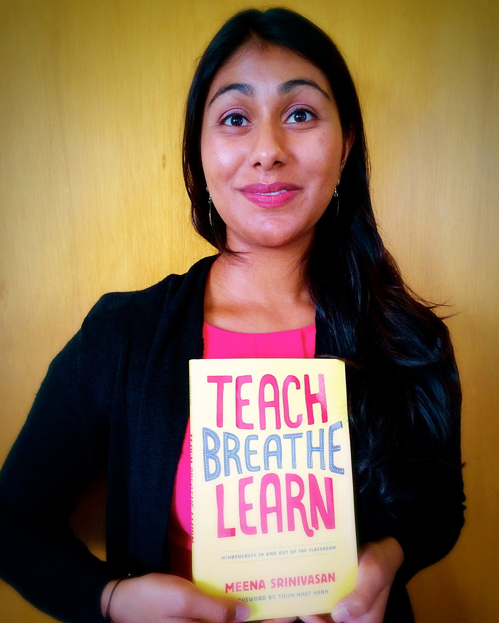 """- In Teach, Breathe, Learn, Meena Srinivasan highlights how mindfulness can be an effective tool in the classroom. What makes this book truly unique is her perspective as a classroom teacher, wrestling daily with the conditions about which she writes.Teach, Breathe, Learn is designed for educators at all levels, parents interested in sharing mindfulness with their children, and anyone curious about how to cultivate their own mindfulness practice and eventually teach mindfulness to others.Teach, Breathe, Learn provides accessible, practical application of mindfulness to overcome challenges faced during the school day.Testimonials from students and colleagues are woven throughout the book.Part 1 helps develop compassion and shift from """"reacting"""" to """"responding"""" to demands.Part 2 offers techniques for cultivating loving-kindness, gratitude and seeing others as oneself.The last section of the book introduces a curriculum anyone can use to teach mindfulness, replete with lesson plans, handouts, and homework assignments."""