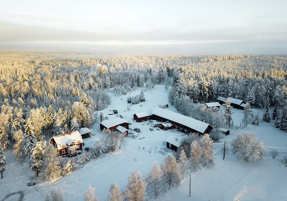 Näsets Markusgården is situated in the outskirt of the small and picturesque village Näset.