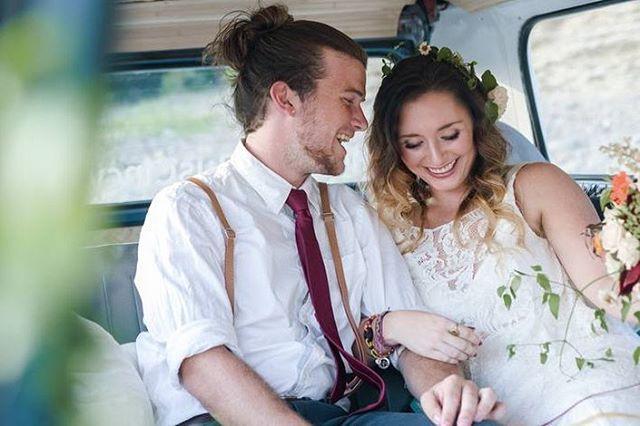 Happy beautiful newlyweds in the @thephotobuscincy . . . . . . . . . . #thephotobus #thephotobuscincy #thephotobuscompany #thephotobusfamily #cincinnati #cvg #cincinnatiphotobooth #cincyphotobooth #thequeencity #vwbusphotobooth #vwphotobooth
