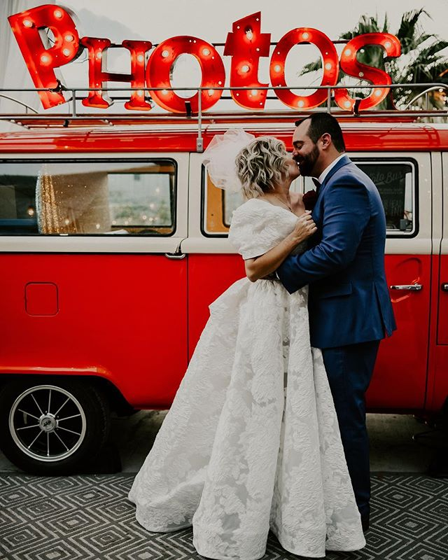 So happy for these two! It was in honor working @thephotobusvegas for your wedding! Congratulations and thanks for having us! . . 📸: @bellaleighphotography .  #theoriginalvwphotobooth #originalvwphotobooth #photobooth #vwphotobooth #vintagephotobooth #mobilephotobooth  #thephotobus #bestphotoboothever #photobus #photoboothbus #thephotobusvegas #vegas #photobus #sincity #cityoflights