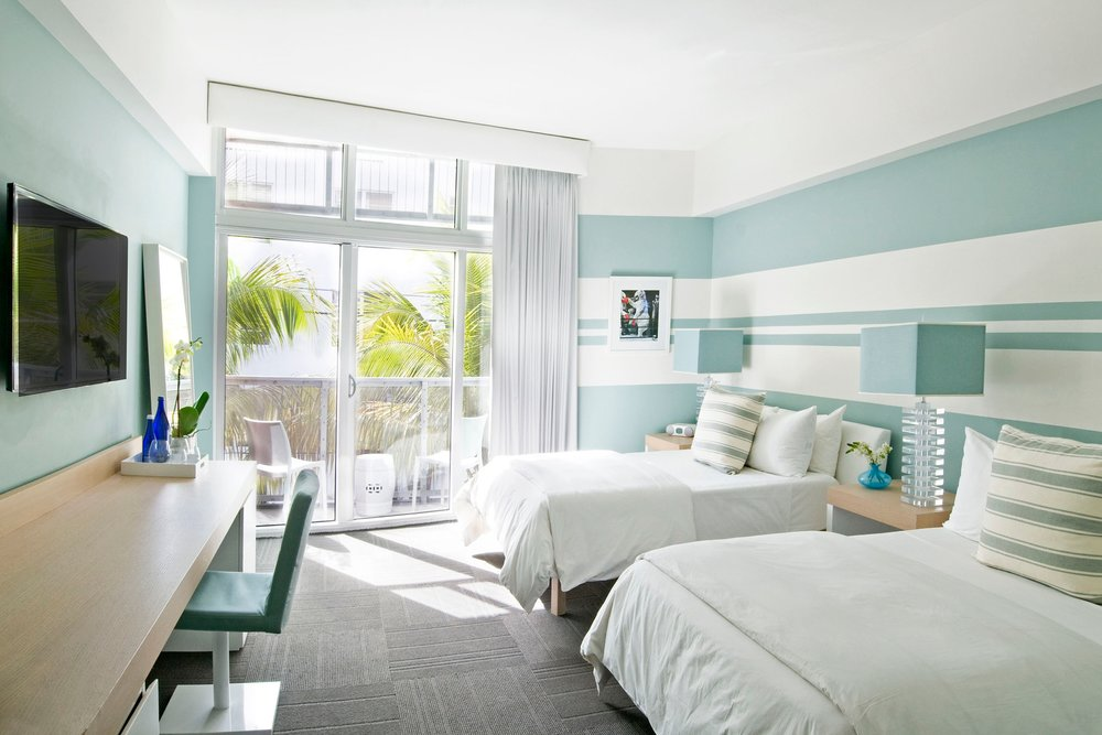Deluxe, Partial Ocean View, Double - Partial ocean view room with two full size beds by Nature Sleep, balcony, 32