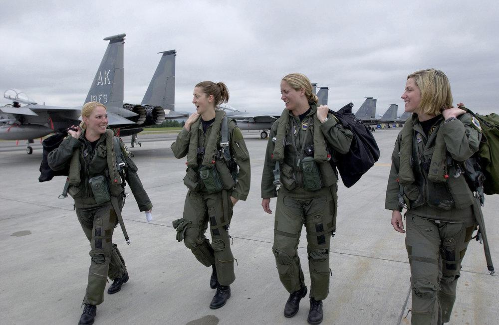 Female F-15 Pilots at Elmendorf, Germany (Photo courtesy of DoD)