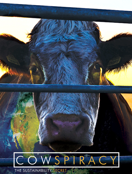 Cowspiracy: The Sustainability Secret - Cowspiracy: The Sustainability Secret is a groundbreaking environmental documentary following filmmaker Kip Andersen as he uncovers the most destructive industry facing the planet today – and investigates why the world's leading environmental organizations are too afraid to talk about it. This shocking yet humorous documentary reveals the absolutely devastating environmental impact large-scale factory farming has on our planet, and offers a path to global sustainability for a growing population.
