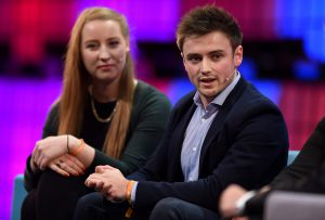 Conor Nolan speaking at the Web Summit