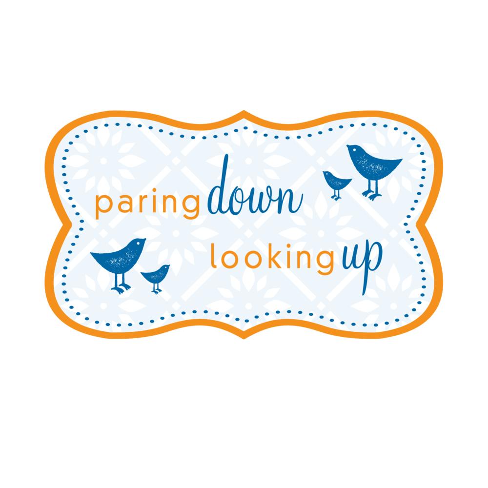 Paring Down Looking Up Logo Design