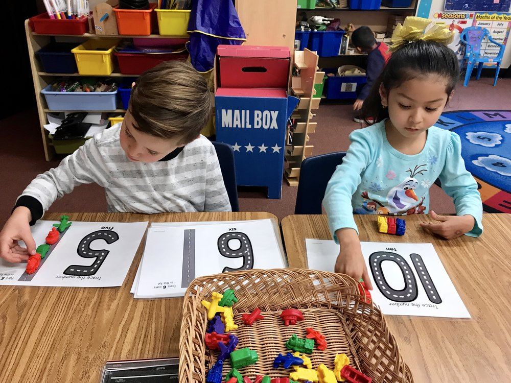 Mastering number recognition and counting.