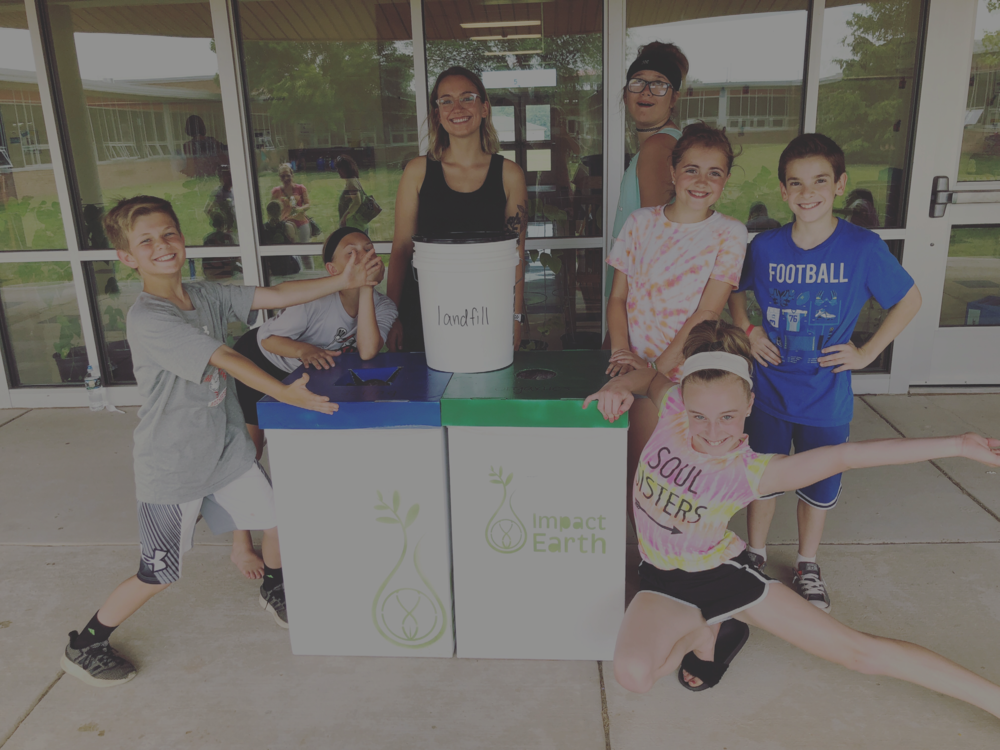 Schools Program - To make an impact in our community, we believe that it is imperative to educate our youngest community members. What better place to do this than in their schools every day! We create living zero waste classrooms in and outside of a building.