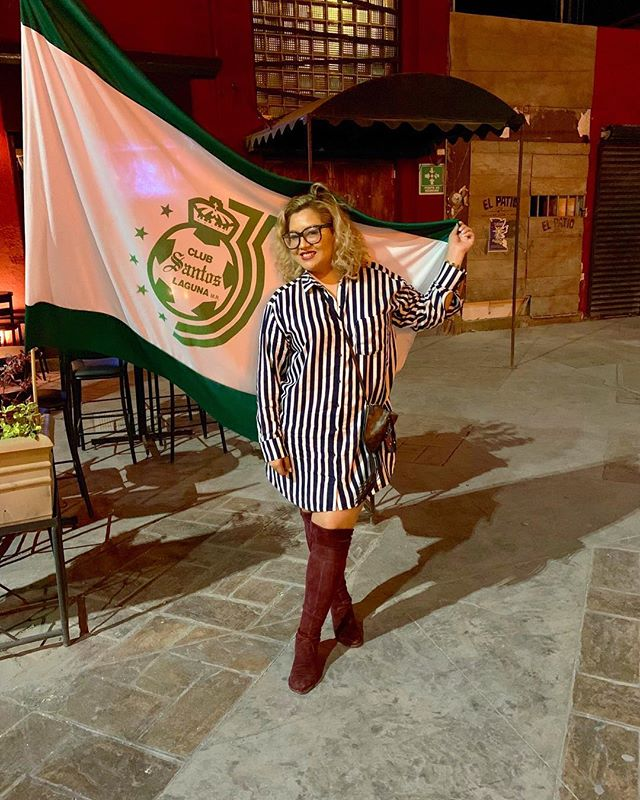 Lagunera. I always root for my home team. Do you follow soccer? I don't unless it involves Los Santos de Torreón! @clubsantos • • •  #travel #travelgram #travelon #welltravelled #worlderlust #alwaysgo #liveauthentic #ilovetravel #justbackfrom #travelbloggers #travelblogger #traveladdict #traveljunkie #mexico #mexican #fashiondiaries #ootd #fashionstyle #styleoftheday #styleinspo #outfitideas #wcw #strong #instagood #picoftheday #igers #htx #blogging #clubsantos #santosdetorreon