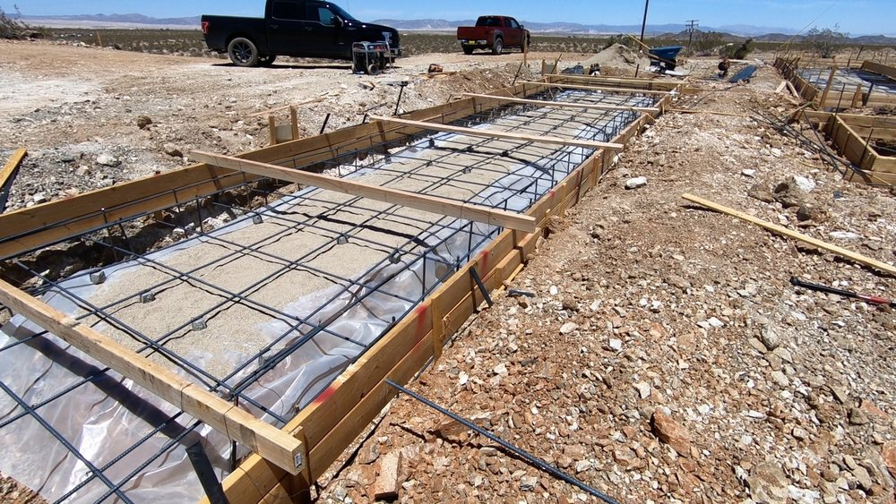 Foundation forms ready for concrete