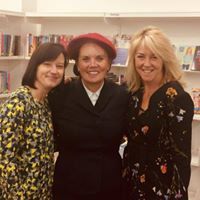Me with fellow saga pals, Jean Fullerton and Kate Thompson.