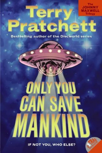 The cover from Terry Pratchett's book Only You Can Save Mankind