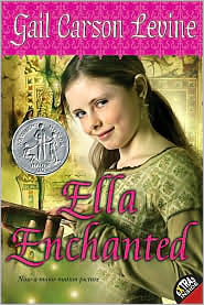 The cover for one paperback edition of Ella Enchanted by Gail Carson Levine