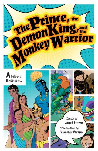 The cover for an illustrated retelling of the Ramayana aimed at younger audiences.