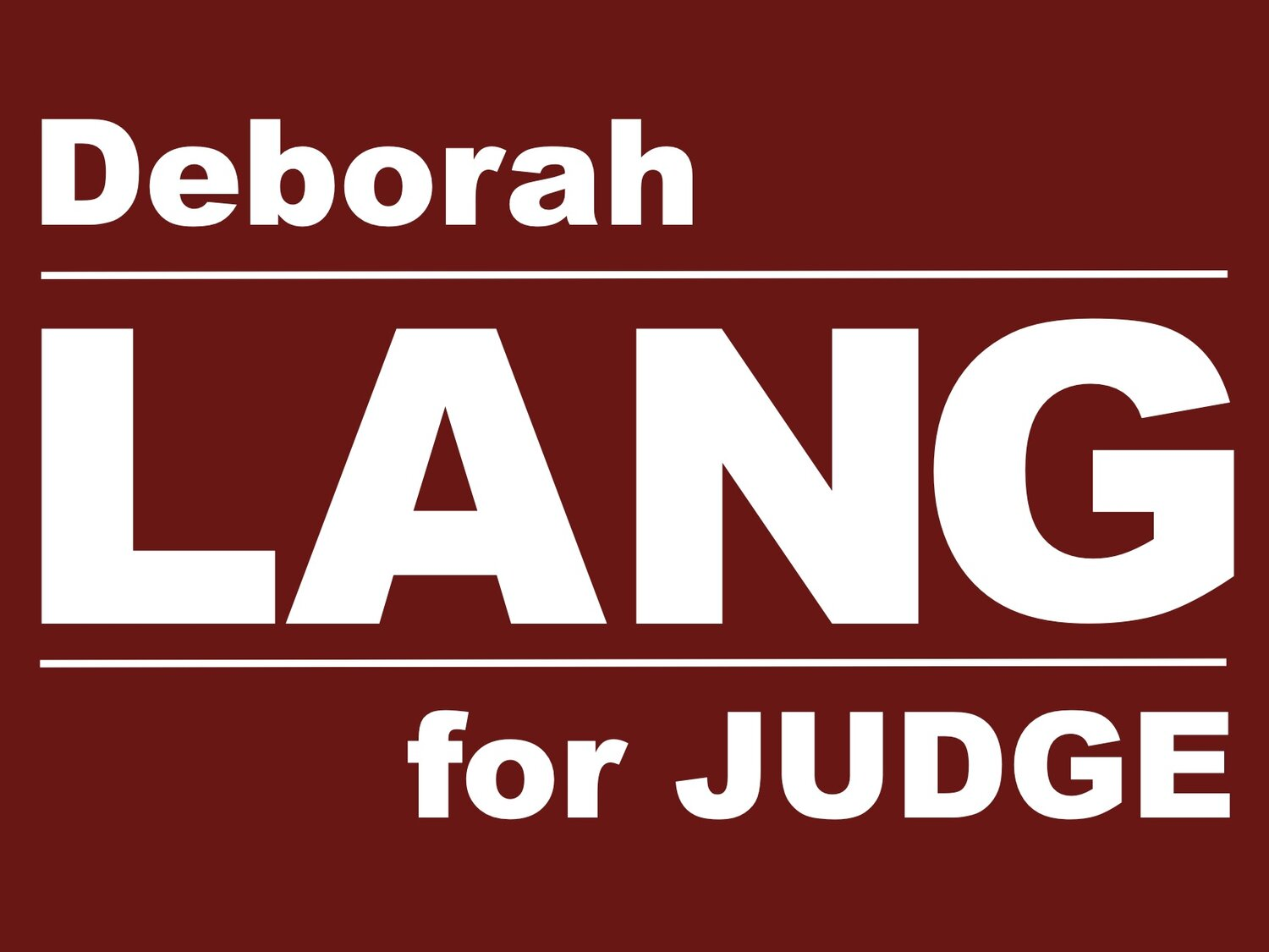 Deborah Lang for Licking County Municipal Court Judge