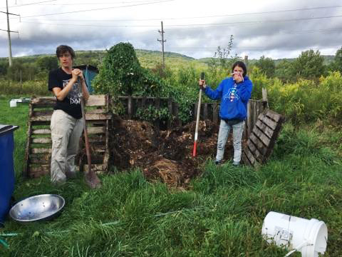 Compost Triage at the  School of the Apocalypse  Field Trip: Making Cultures in the In-Between. Liberty, New York. September 2017