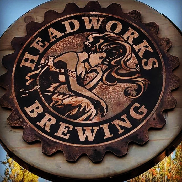 Logo design for Headworks Brewery in Enumclaw, WA.