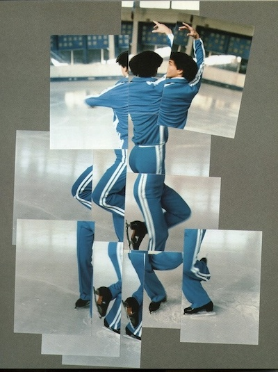 David Hockney,  The Skater , 1984, photographic collage.