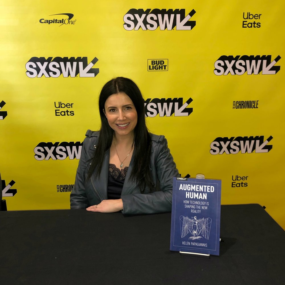 Dr. Helen Papagiannis at SXSW Book Signing for  Augmented Human