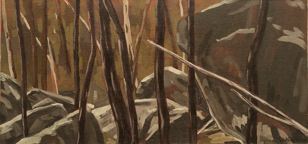 Landscape (Dog Rocks), 2018  Oil on Canvas on Board  18 x 38cm  $300