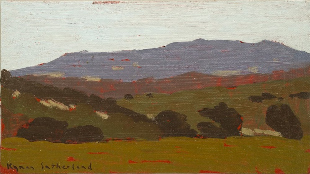 "Landscape (Mount Alexander), 2018  Oil on Canvas on Board  5"" x 9""  $180"