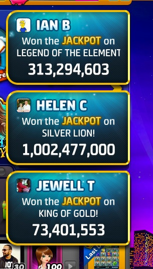 - You also see from time to time toast notifications that announce which players have hit jackpot which acts as aspirational and vanity matrix for the existing Player to continue playing.