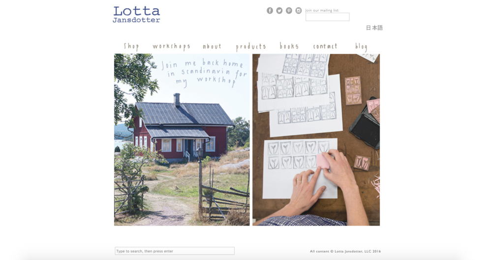 Lotta Jansdotter | Designer's Website (graphic design & updates)