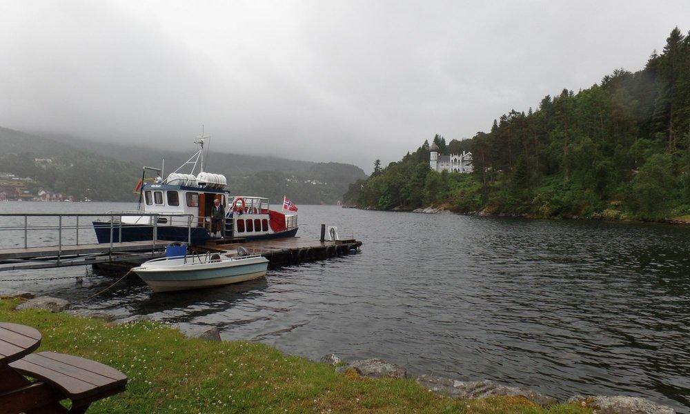 The dock at Lysøen