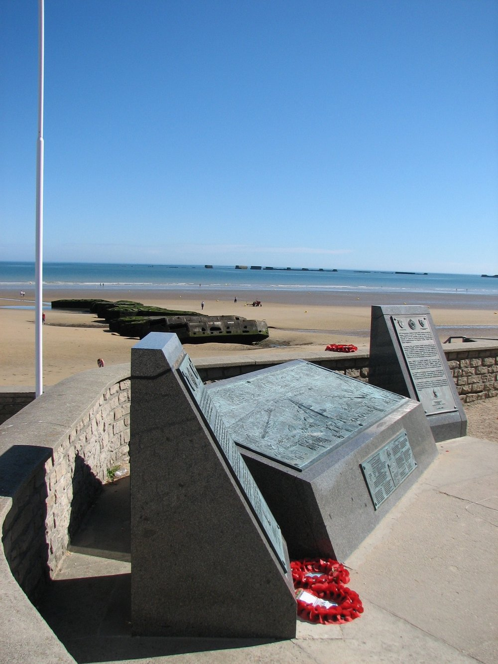 Memorial on the beach