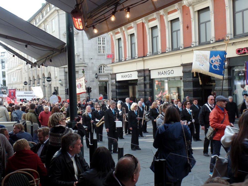 Labor Day parade band, Oslo