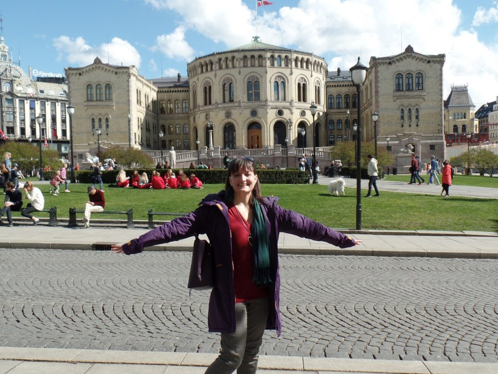 Yours truly in Oslo, in front of Stortinget (parliament)