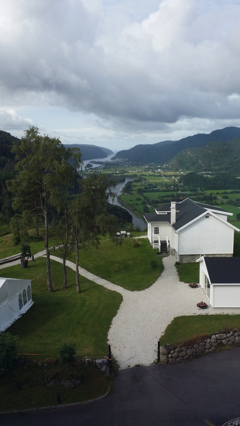 View from hotel in Kvinesdal, Norway