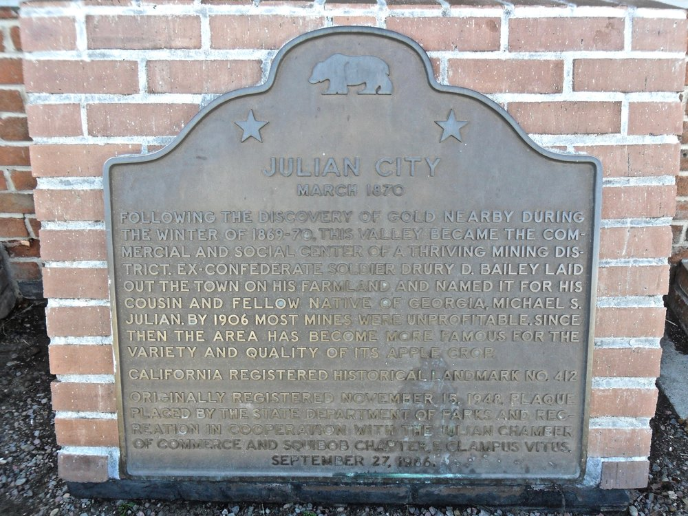 I have no good pictures of the city itself, only Julian's plaque explaining its history
