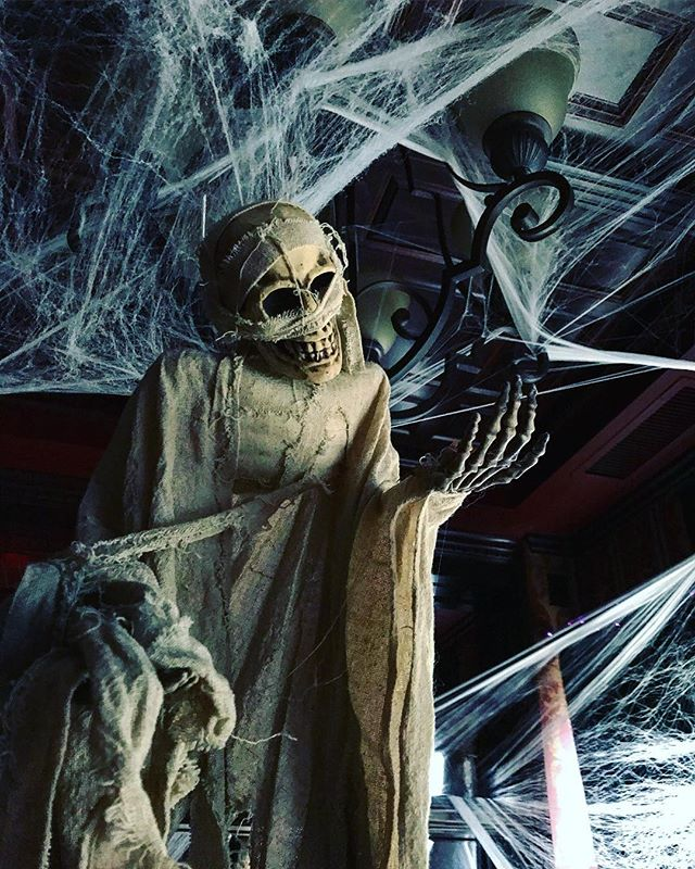 Halloween is one of our favorite holidays! The dead and their ghosts took over the pub last night 🧟♂️🎃💀🕷🕸 . . #halloween #halloweentime #chicago #chicagogram #scary #spooky #irishpub #halloween2018 #decor #decorations