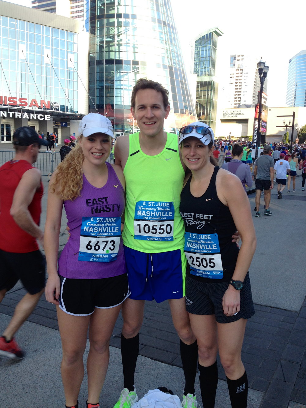 Lindsey with Matt and Margaret at the Country Music Marathon and Half Marathon