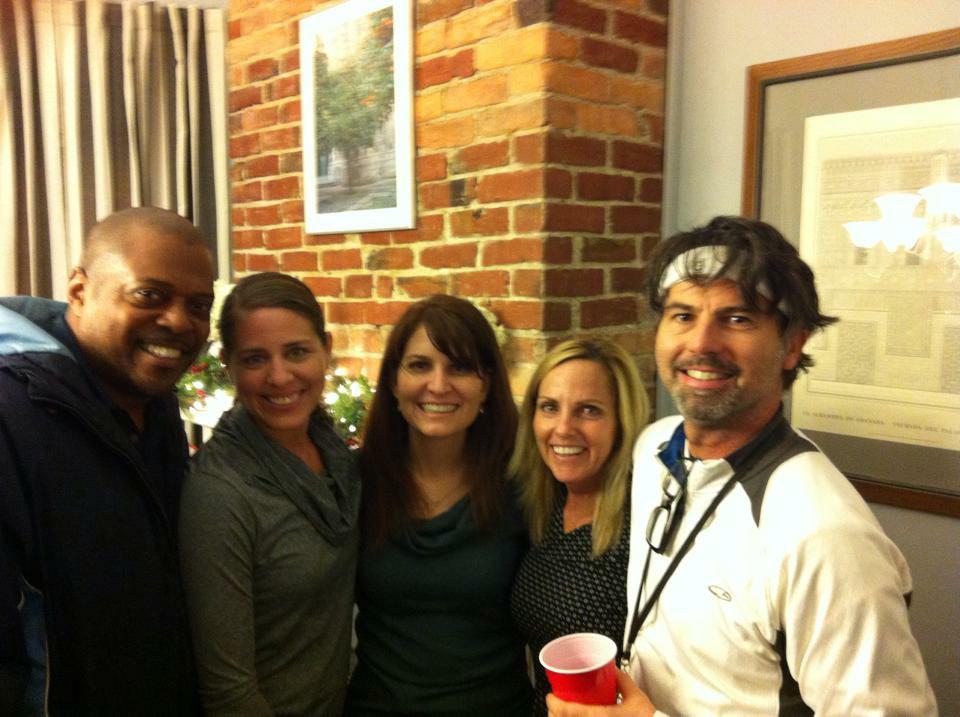 The Gang at the EN Christmas party.