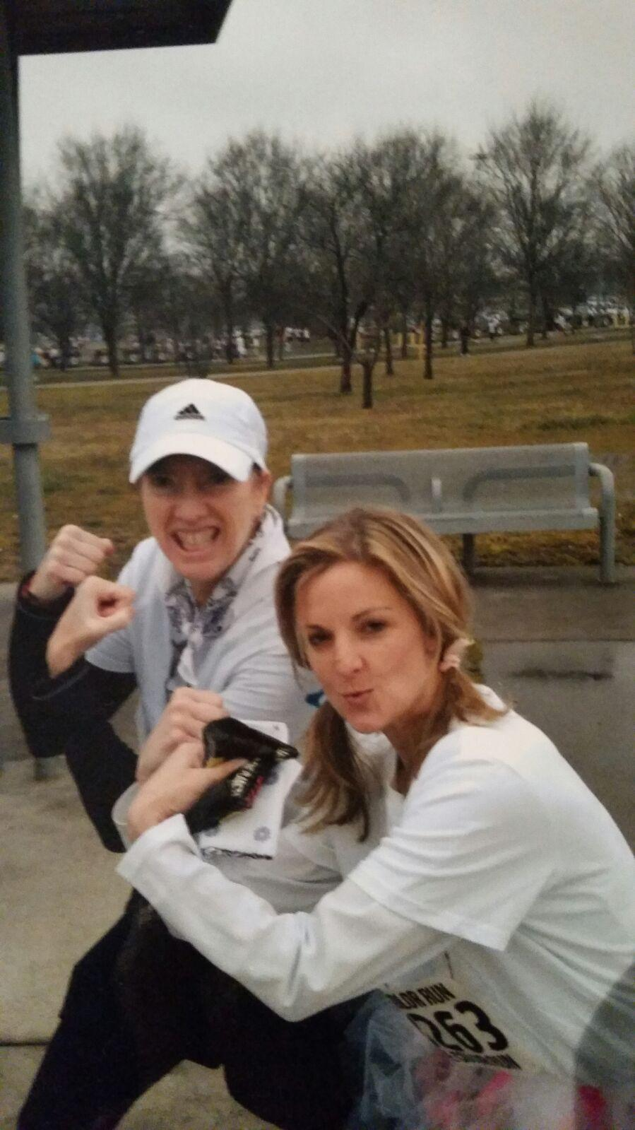 Melinda and Carrie at the Color Run
