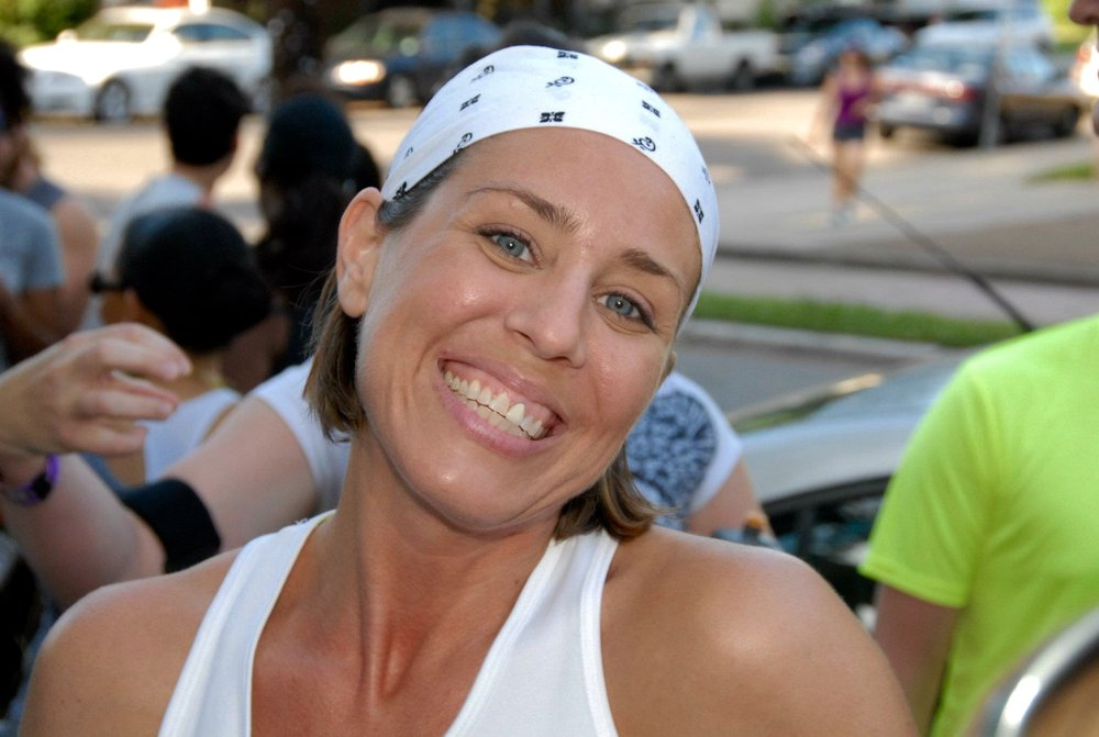 Right before running The Nasty three summers ago. Not sure why I'm smiling! ;)