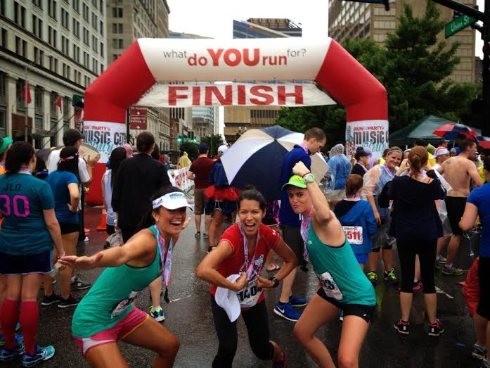 Soaked and posing at Fourth of July 10k in 2013