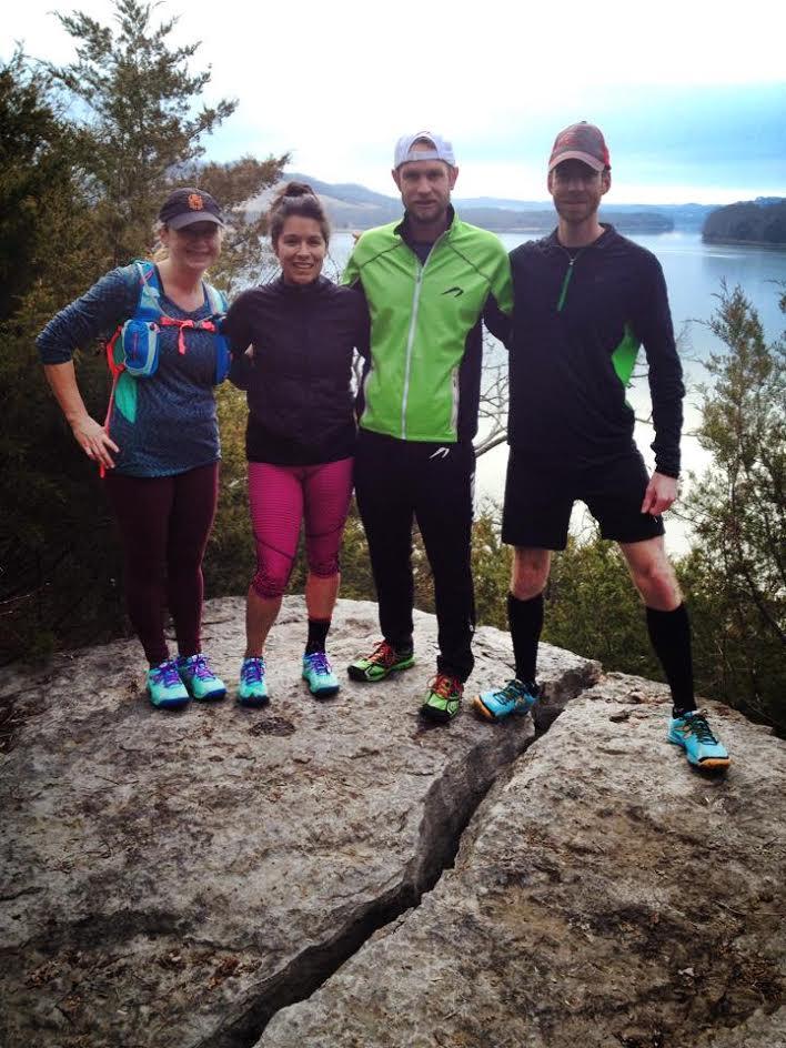 Alicia and RunWILD crew at Bearwaller Gap