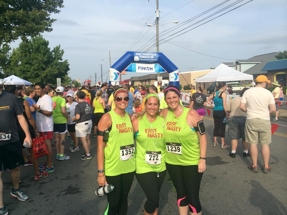 Becky, Melly, and Amy after 2014 Tomato 5k