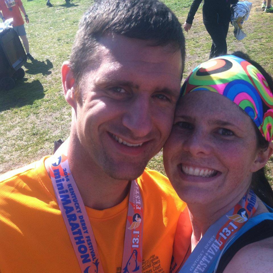 Amy and Cheyenne at 2014 KY Derby Mini-Marathon