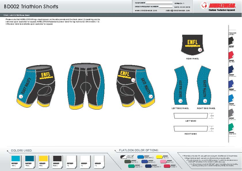Order East Nasty Tri & Cycling Kits - Deadline is Aug 15th